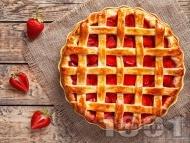 Лесен пай със сладко от ягоди и ром